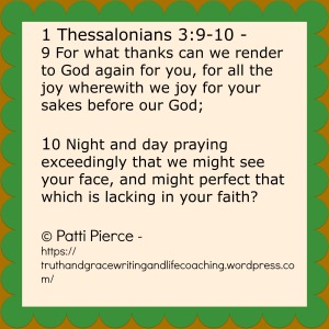 1 Thessalonians 3 9 10