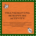 Thankgsgiving Scripture Activity